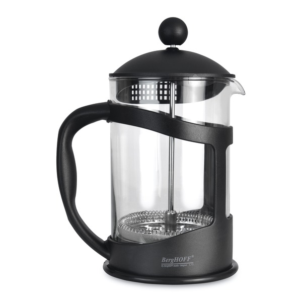French press na kávu/čaj Studio 0,8l (čierny)
